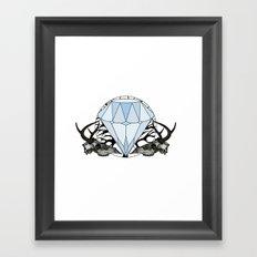 Diamond and skulls Framed Art Print