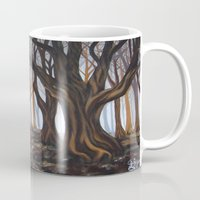 forrest Mugs featuring Dark Forrest by Annette Jimerson