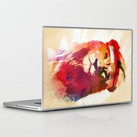 gym Laptop & iPad Skins featuring Gym Lion by Robert Farkas