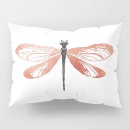 Rose Gold Dragonfly Pillow Sham