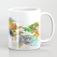 wesley bird Mugs featuring Dream Theory by Archan Nair