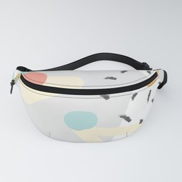 Trendy hand drawing seamless pattern Fanny Pack