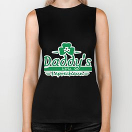 Daddy's Little Leprechaun St Patricks Day Kids Or Boy Biker Tank