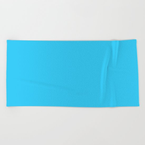 Simply aqua teal color - Mix and Match with Simplicity of Life Beach Towel