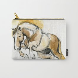 Golden Jumping Horse Carry-All Pouch