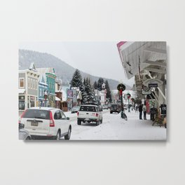 Downtown Crested Butte, Colorado During Winter Time Metal Print