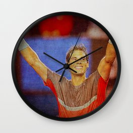 Nadal Tennis Happy Wall Clock