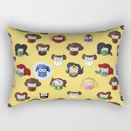 Nerd Girl (Owls) Rectangular Pillow