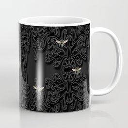 Black Bees and Lace Coffee Mug
