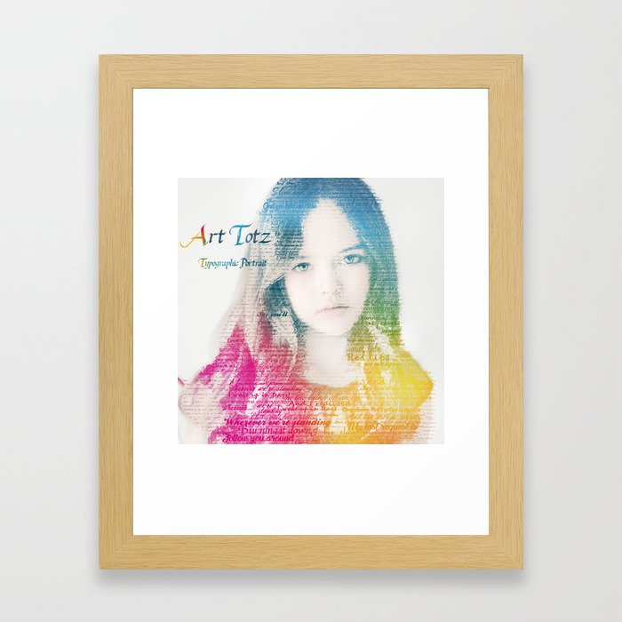 Typographic Portrait Framed Art Print