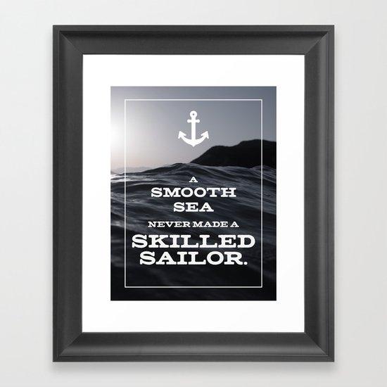 Skilled Sailor Framed Art Print