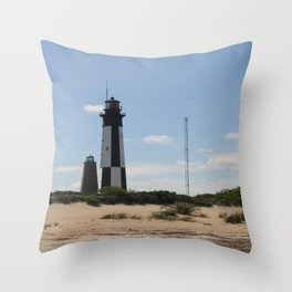 Short And Tall Cape Henry Lights Throw Pillow