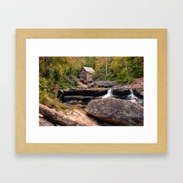 Tucked Away - Historic Old Mill Photography Framed Art Print