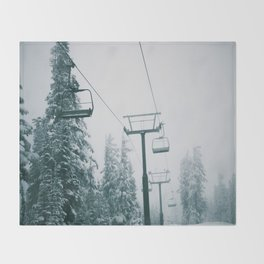 Ski Lift II Throw Blanket