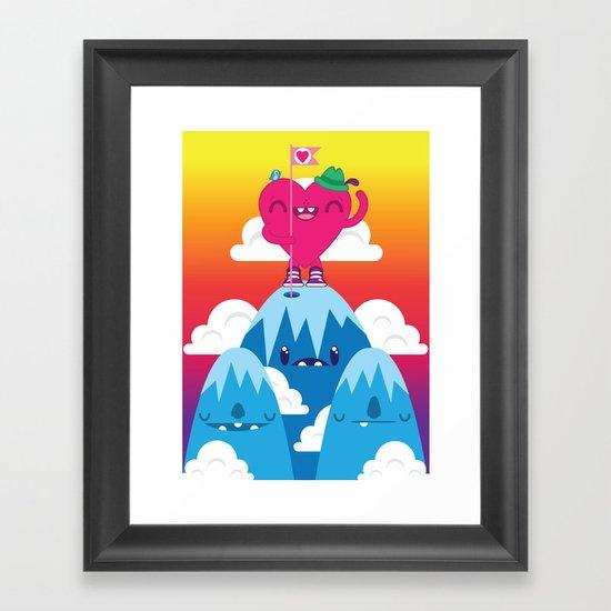 Love on Top Framed Art Print