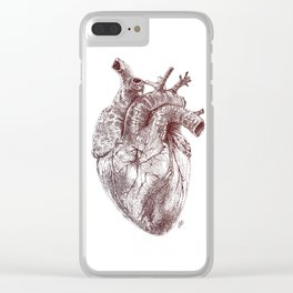 The Human Heart Clear iPhone Case