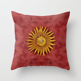 """""""Aztec Sun and pickled coral"""" Throw Pillow"""