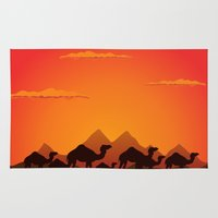 camel Area & Throw Rugs featuring Camel by aleksander1