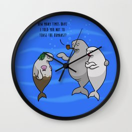 Poor Desperate Sailors - The Real Mermaids Wall Clock