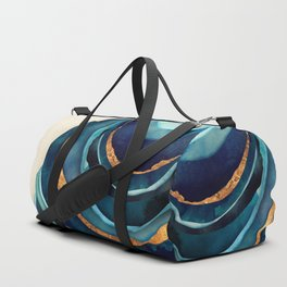 Abstract Blue with Gold Duffle Bag