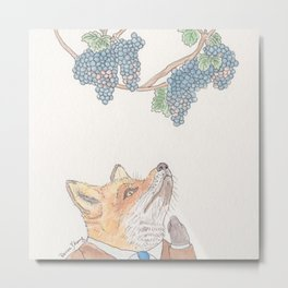 Sour Grapes Metal Print