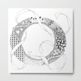 """Zenletter """"O"""" Metal Print"""