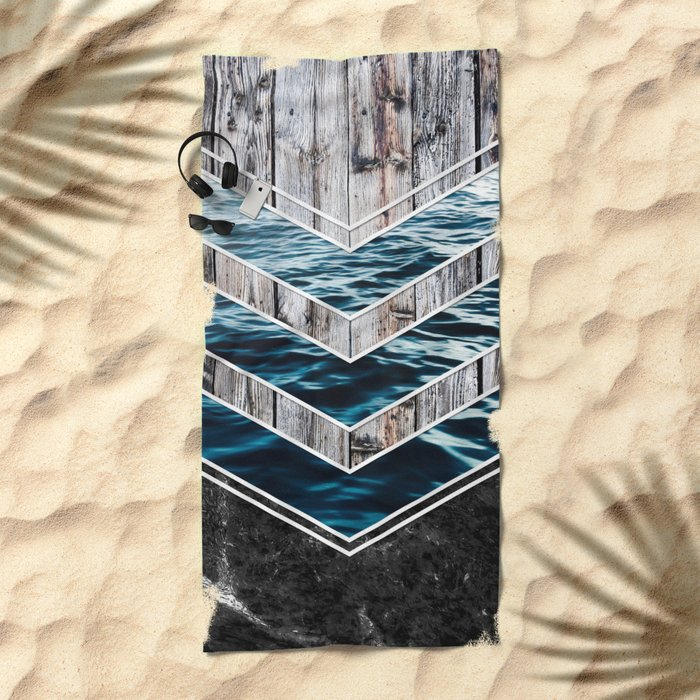 Striped Materials of Nature III Beach Towel