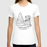 rat T-shirts featuring Pizza Rat by Alejandro Giraldo