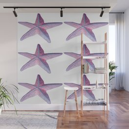 Pink Sea Stars in Six by Aloha Kea Photography Wall Mural