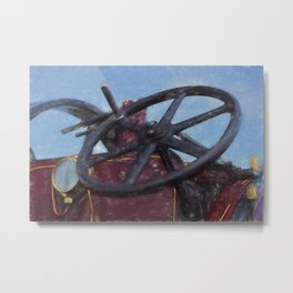 Steering in the right direction Metal Print