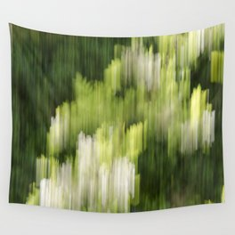 Green Hue Realm Wall Tapestry