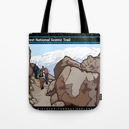 Vintage Poster - Pacific Crest National Historic Trail (2018) Tote Bag