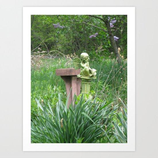 garden angel 1 Art Print