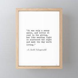 F. Scott Fitzgerald quote 6 Framed Mini Art Print
