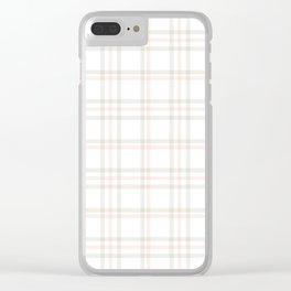 Cute Plaid 1 Clear iPhone Case