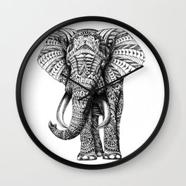 Ornate Elephant Wall Clock