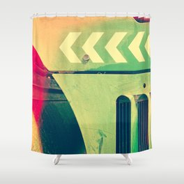 Road Roller Chevron 02 - Industrial Abstract (everyday 18.01.2017) Shower Curtain