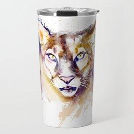 Mountain Lion Head Travel Mug