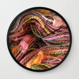 Spring Orchard - Handspun and dyed Yarn Wall Clock