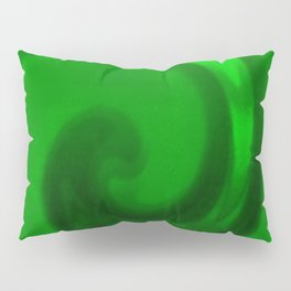 Green tie dye Pillow Sham
