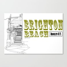 Brighton Beach Elevated Station Canvas Print