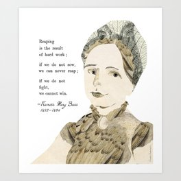 Homage to Frances Mary Buss Art Print