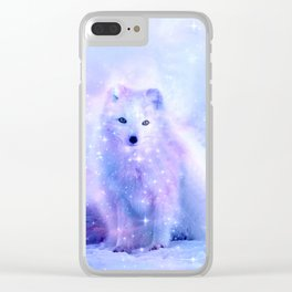 Arctic iceland fox Clear iPhone Case