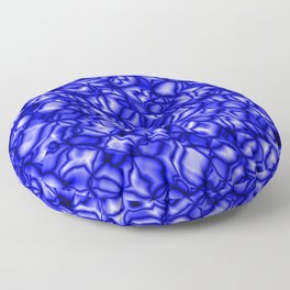 Floral blue soap bubbles with a pattern of blurred outlines. Floor Pillow