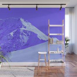 Winter Mountains in Periwinkle - Alaska Wall Mural