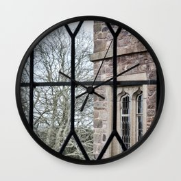 Windows Follow Trees Wall Clock