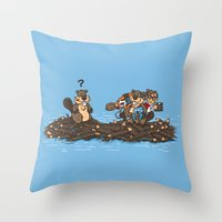 woody Throw Pillows featuring Woody by Rodrigo Ferreira