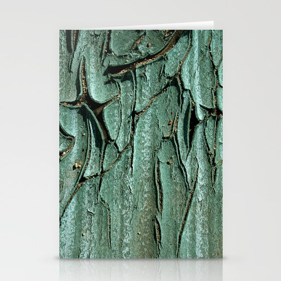 Green Rubber Stationery Cards