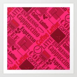 Loving coffee 5 Art Print