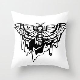 Drippy Death Moth Throw Pillow